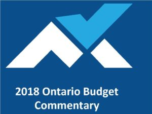 2018 Ontario Budget Commentary